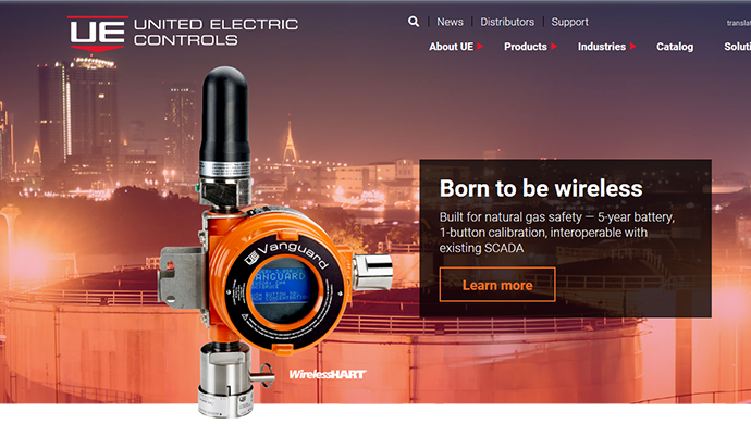 United Electric Controls new website